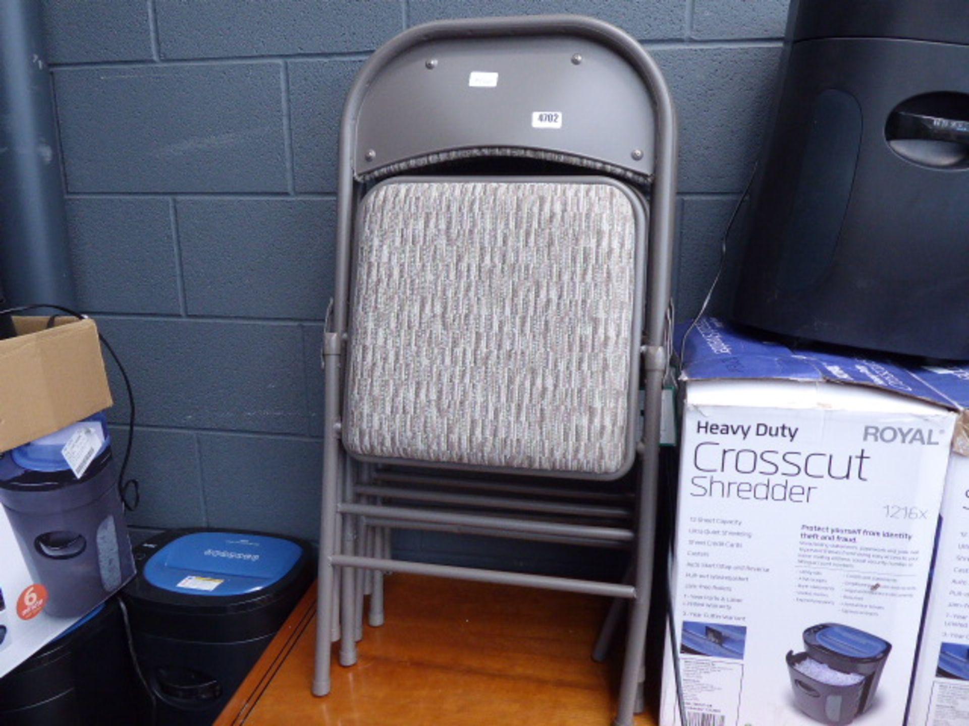 Lot 4702 - 4 foldup beige chairs