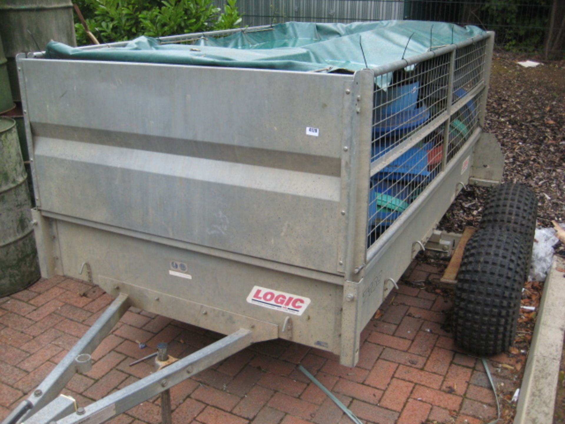 Lot 4128 - Logic XT100 galvanized single axle trailer with 4 wheel articulated axle conversion, low ground