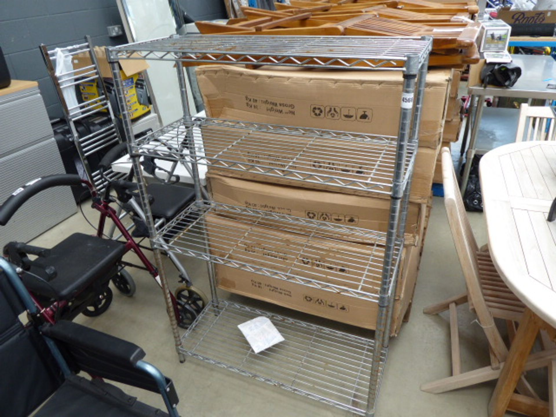 Lot 4568 - Chrome rack