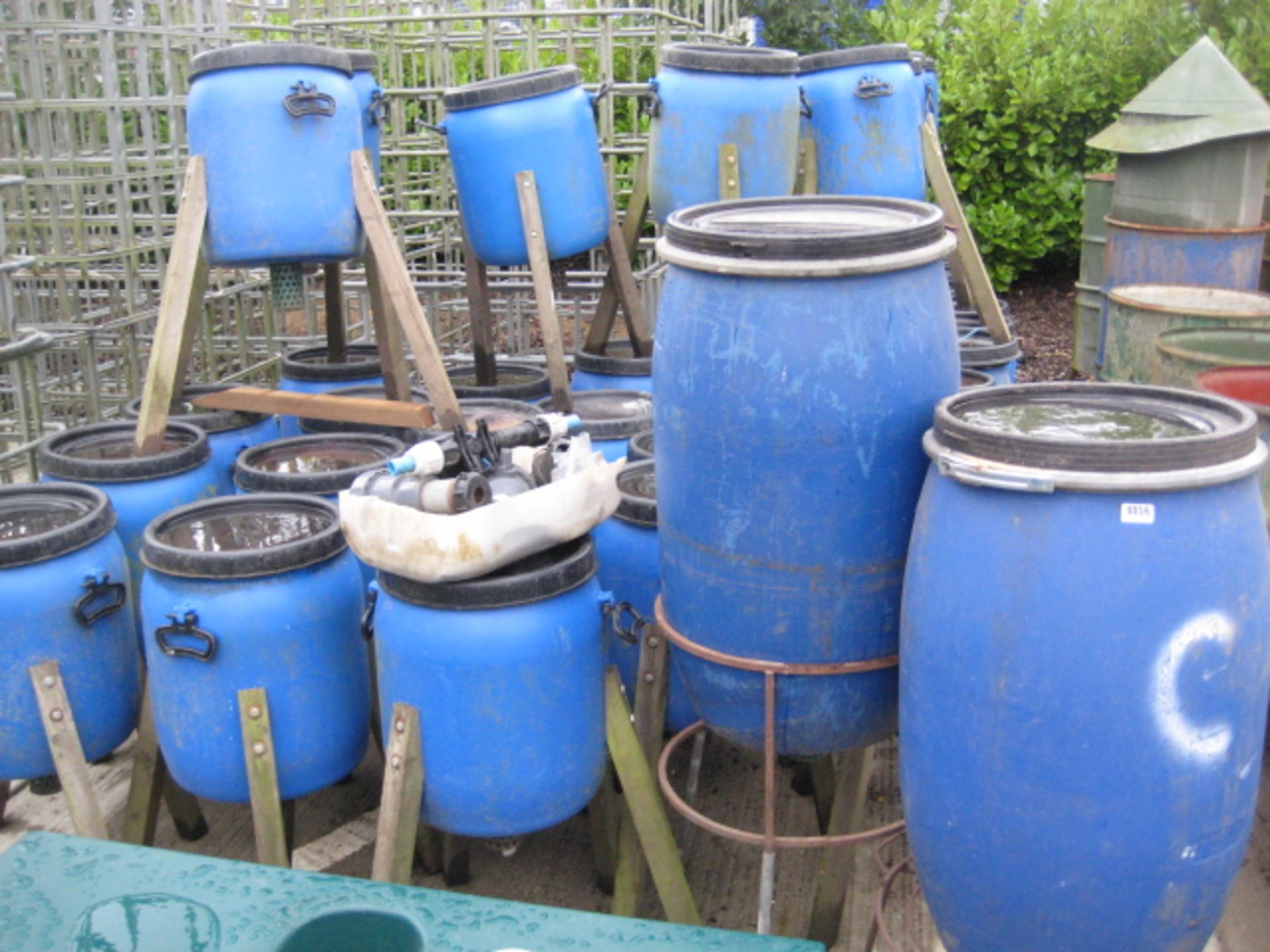 Lot 4056 - Large quantity of plastic Pheasant feeders on tripod legs