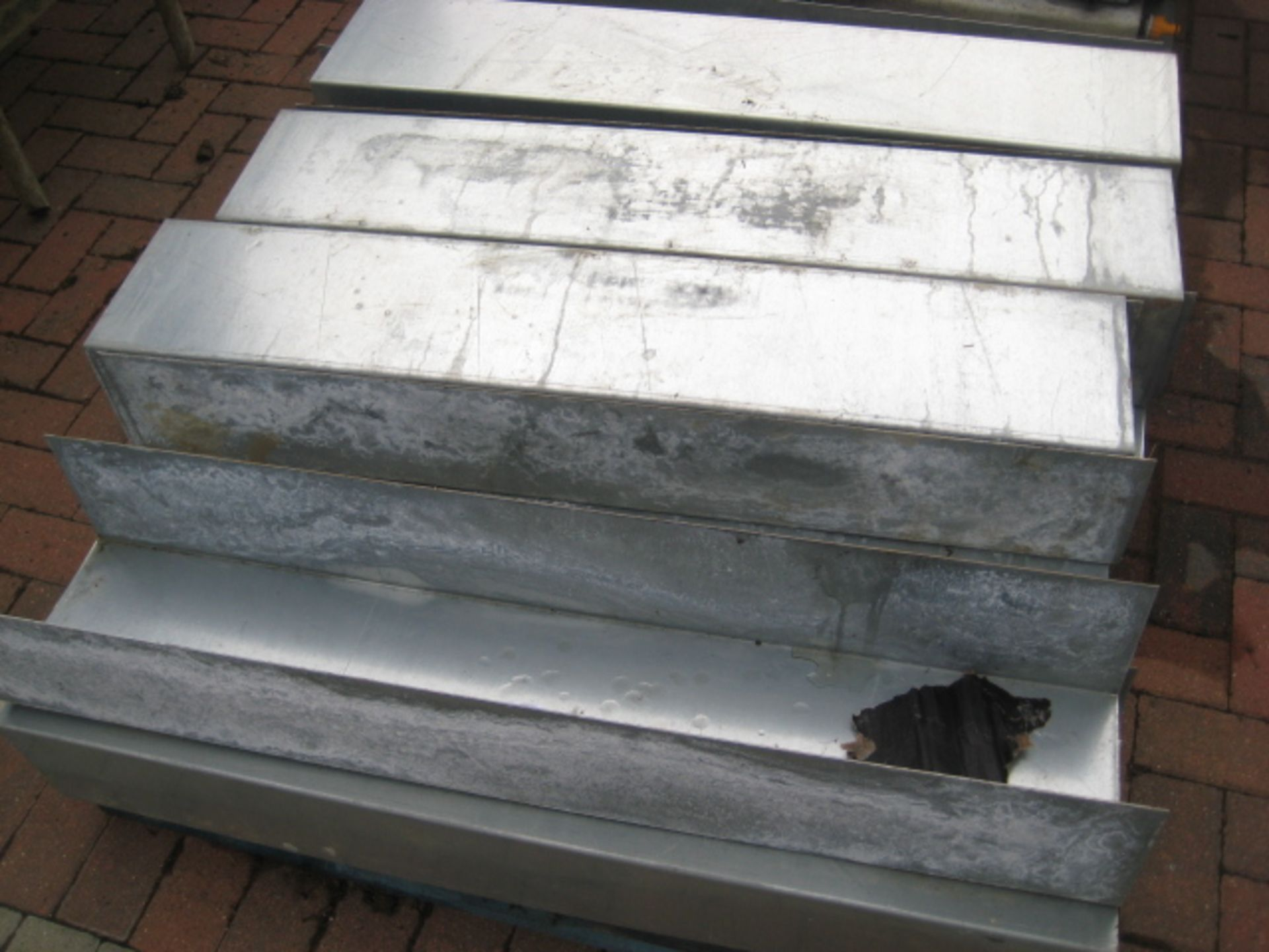 Lot 4136 - Pallet of galvanized steel troughs/conduit