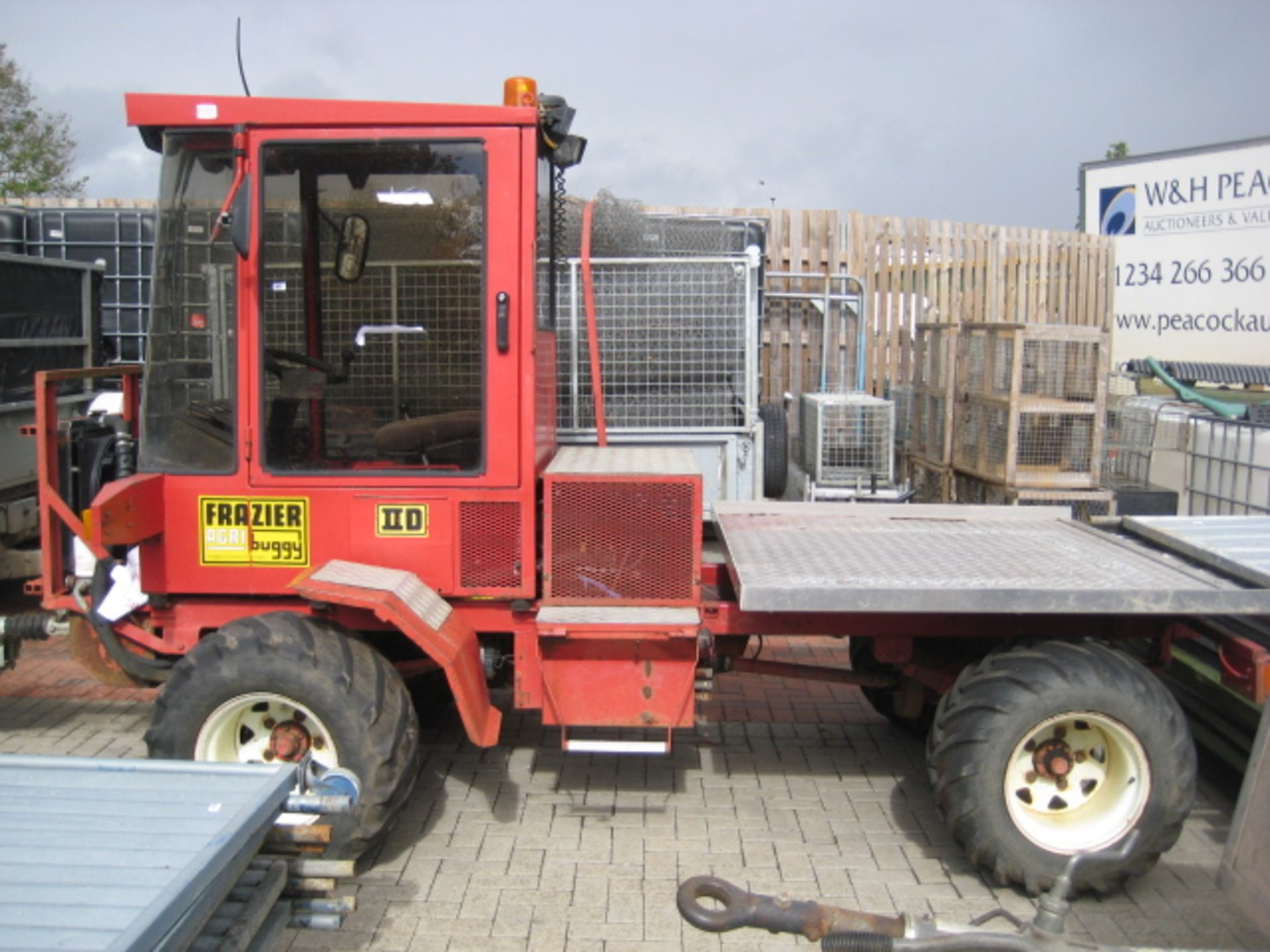 Lot 4022 - Frazier 4x4 IID Agribuggy Model 2D197, 1753cc Ford Endura-DE diesel engine, PTO, checkerplate rear