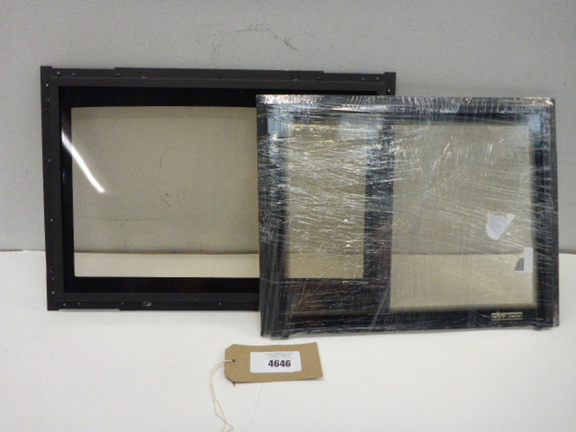 Lot 4646 - Yeoman gas stove replacement glass door front and Gazco replacement door front