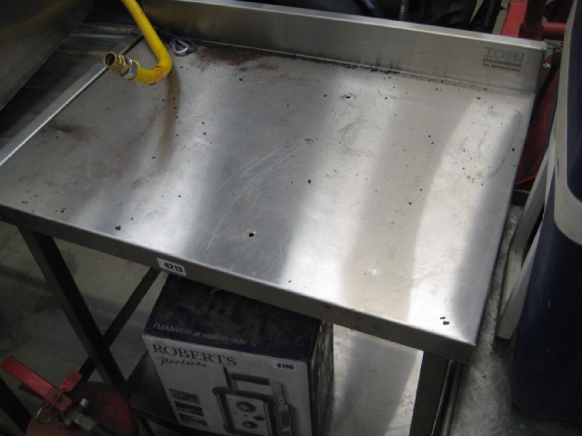 Lot 4213 - Stainless steel preparation table