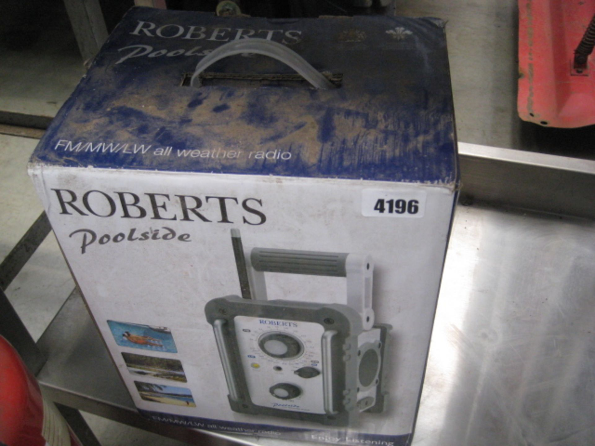 Lot 4196 - Roberts poolside radio in box