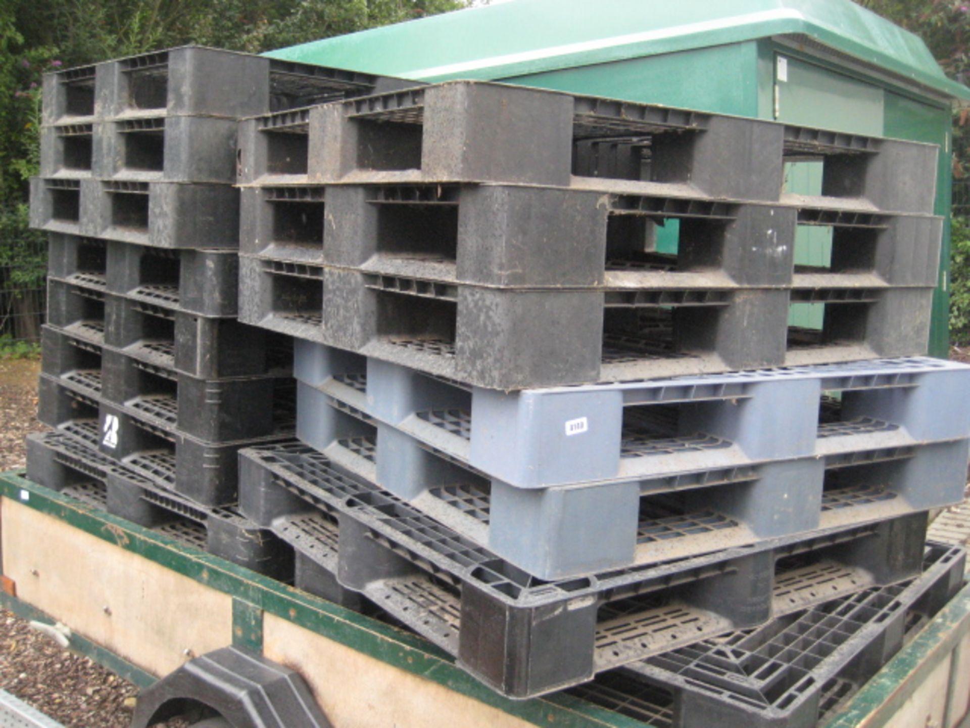 Lot 4140 - Quantity of black GRP plastic pallets