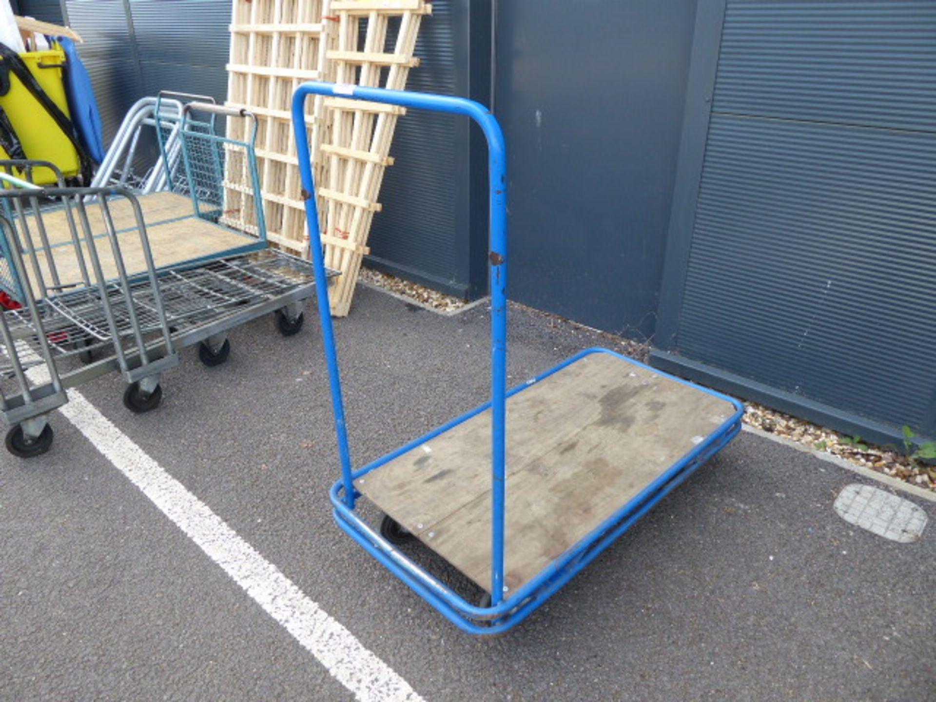 Lot 4388 - Blue flat 4 wheel trolley