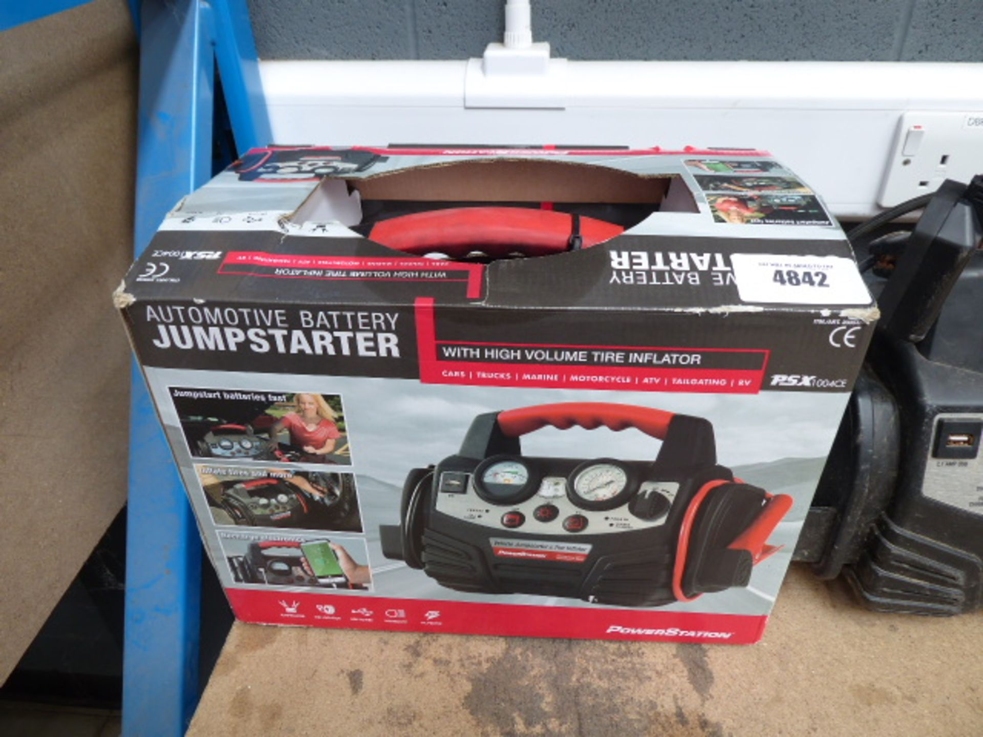 Lot 4842 - Boxed PSX jumpstart kit with charger
