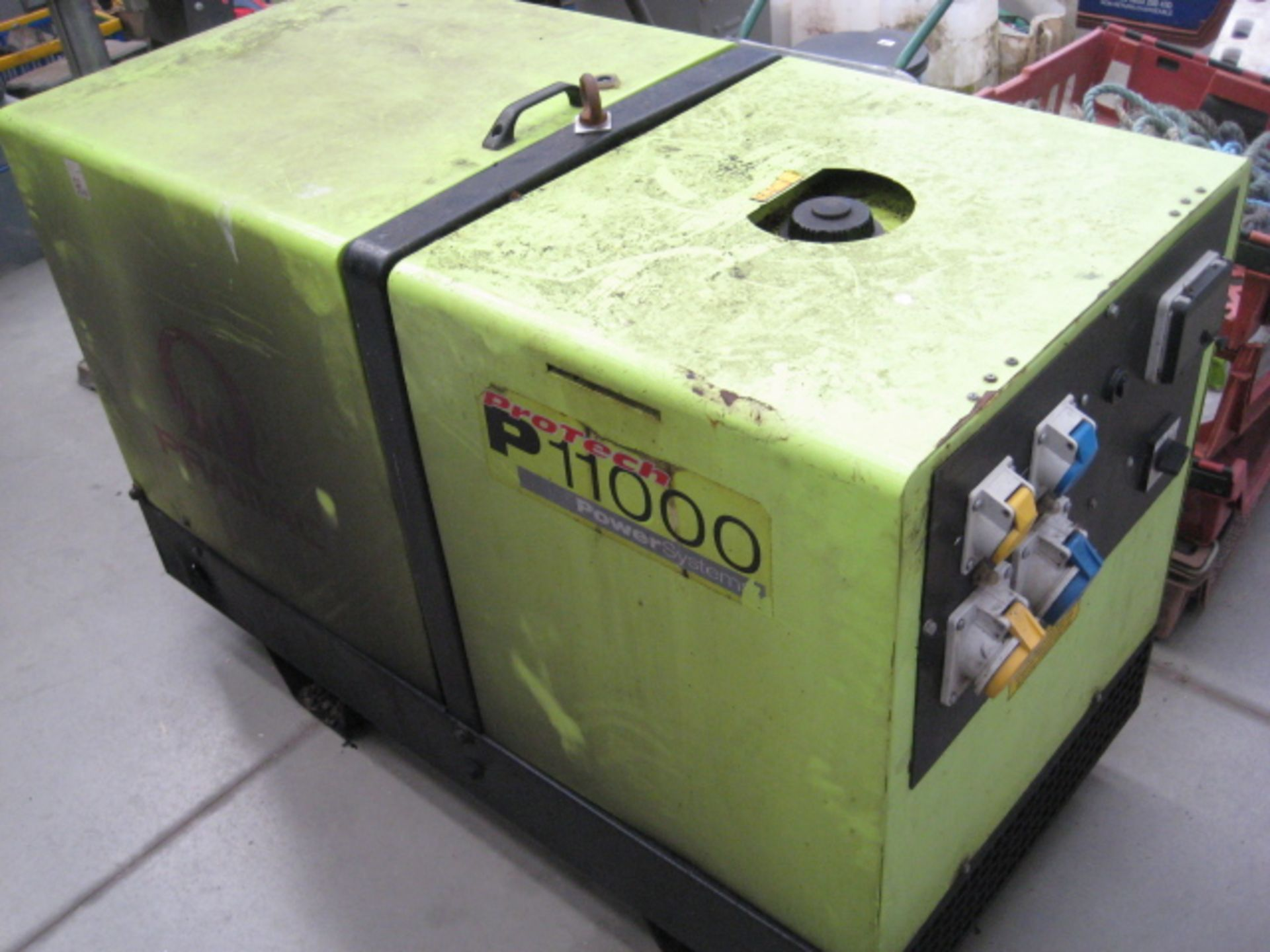 Lot 4026 - Pramac Pro Tech 1100 10kVA 110v/240v switchable generator, Yanmar 3 cylinder diesel (recent new