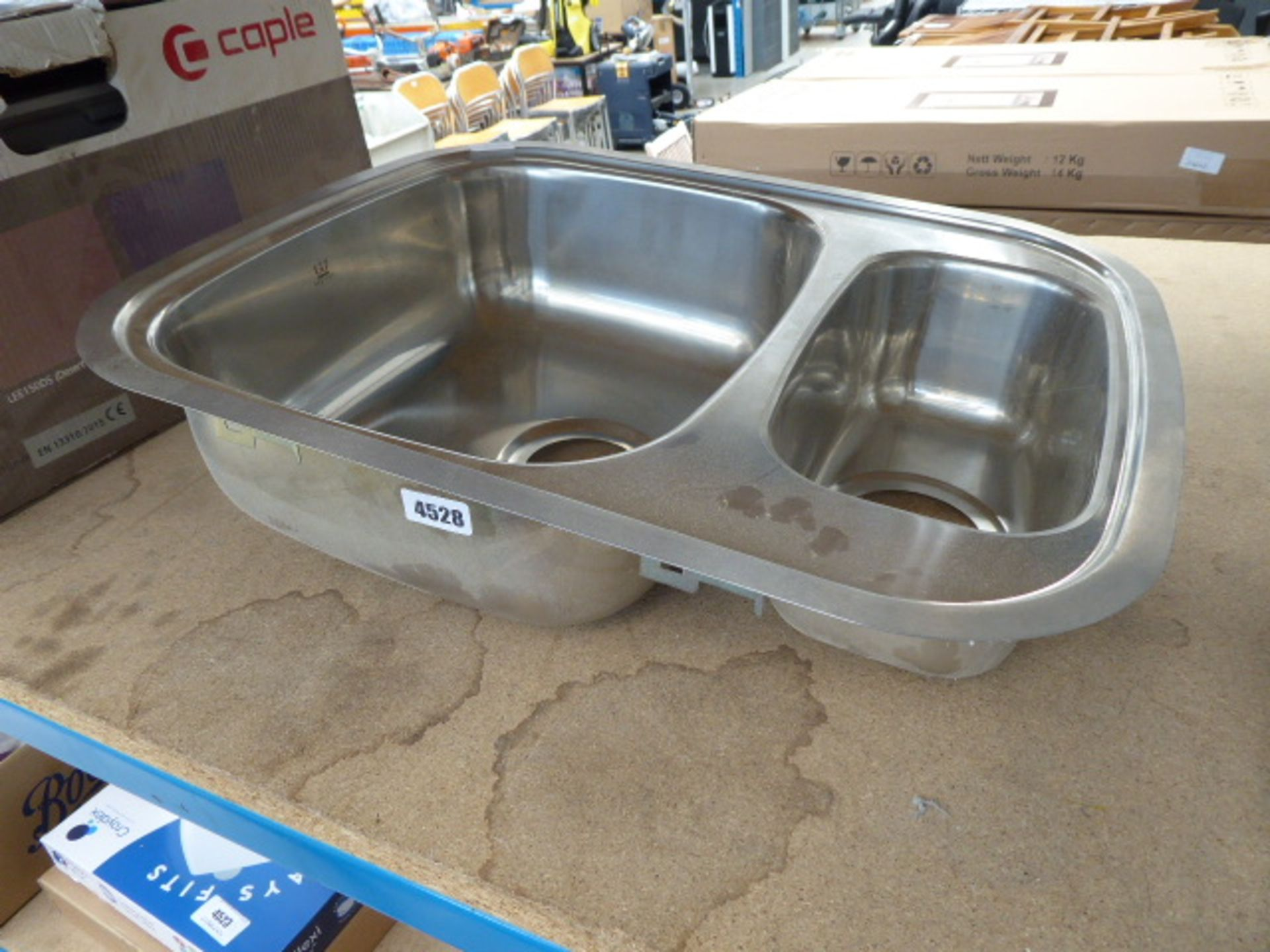Lot 4528 - 1.5 bowl small stainless steel sink