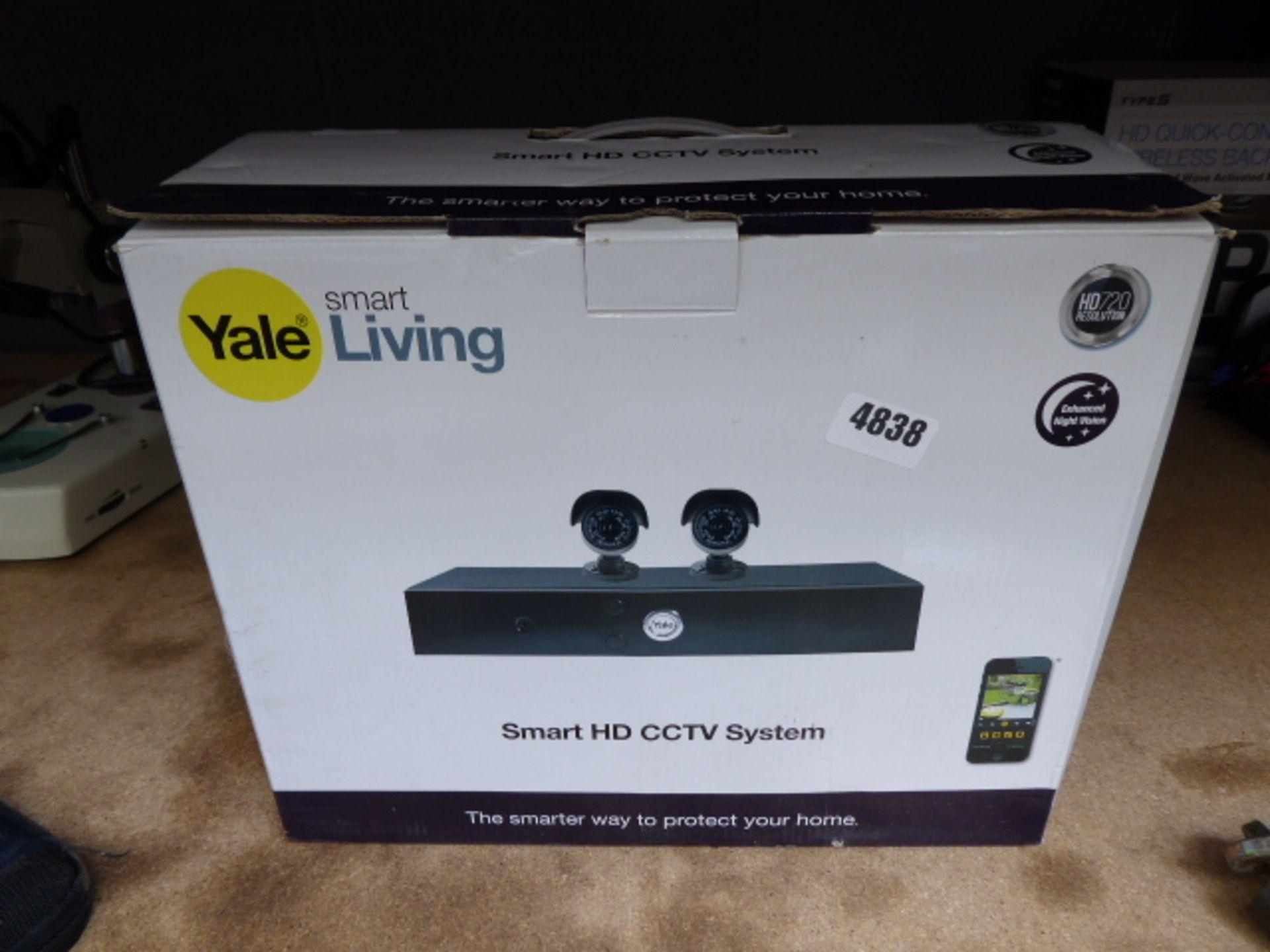 Lot 4838 - Yale smart living CCTV system