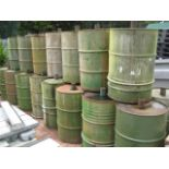 23 x steel Pheasant feeder drums with quantity of lids