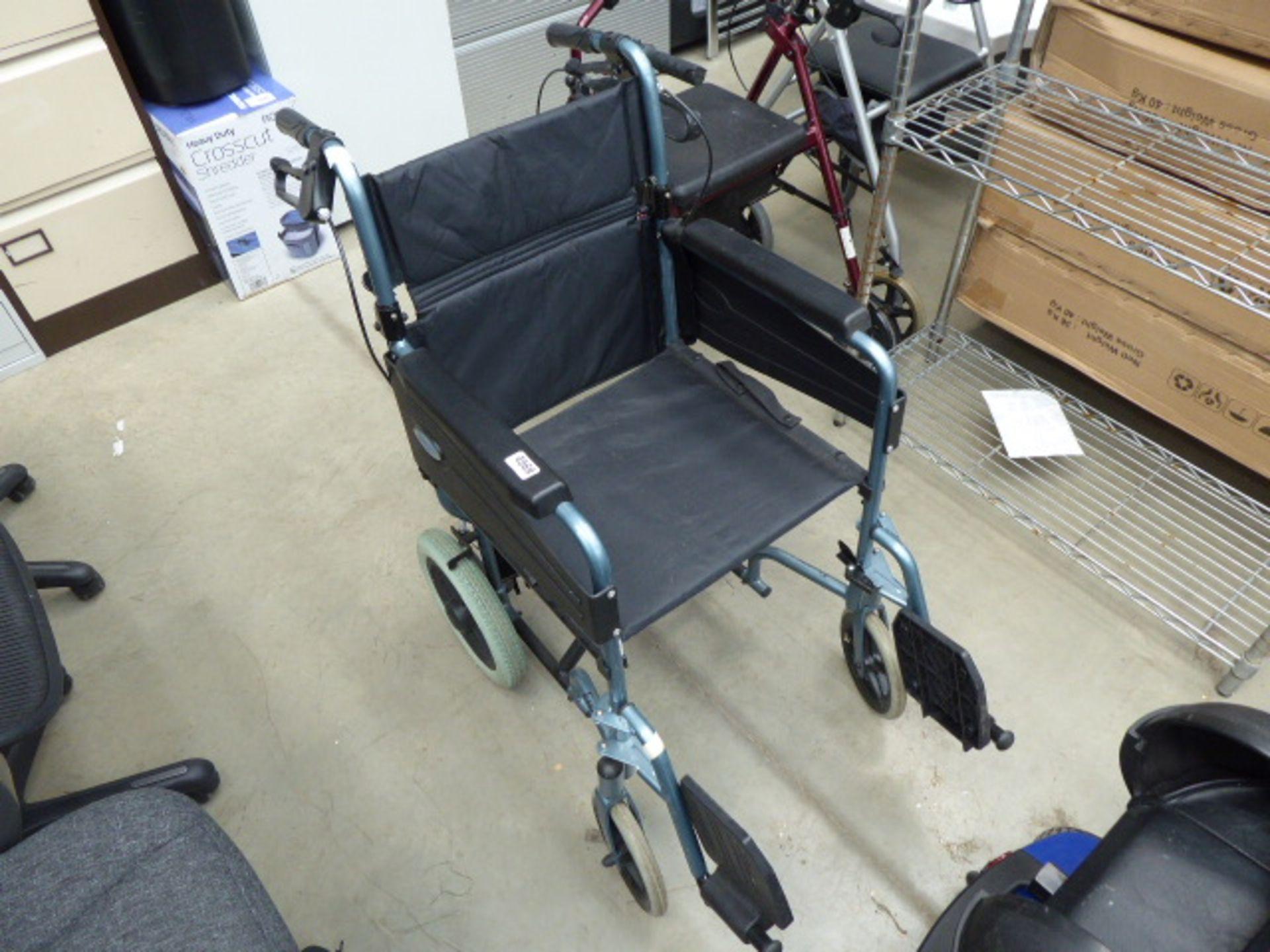Lot 4569 - 4266 - Light blue foldup wheelchair