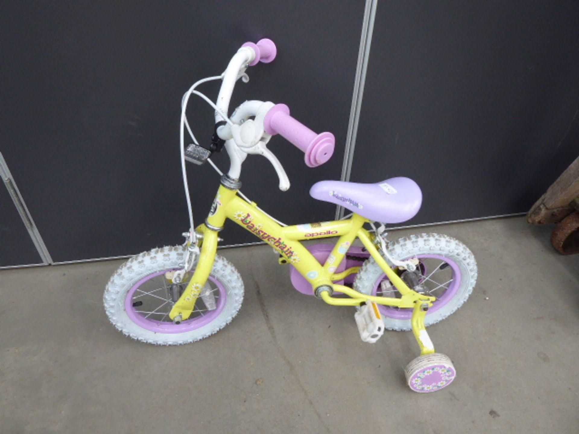 Lot 4283 - 2 Yellow and purple girls bikes