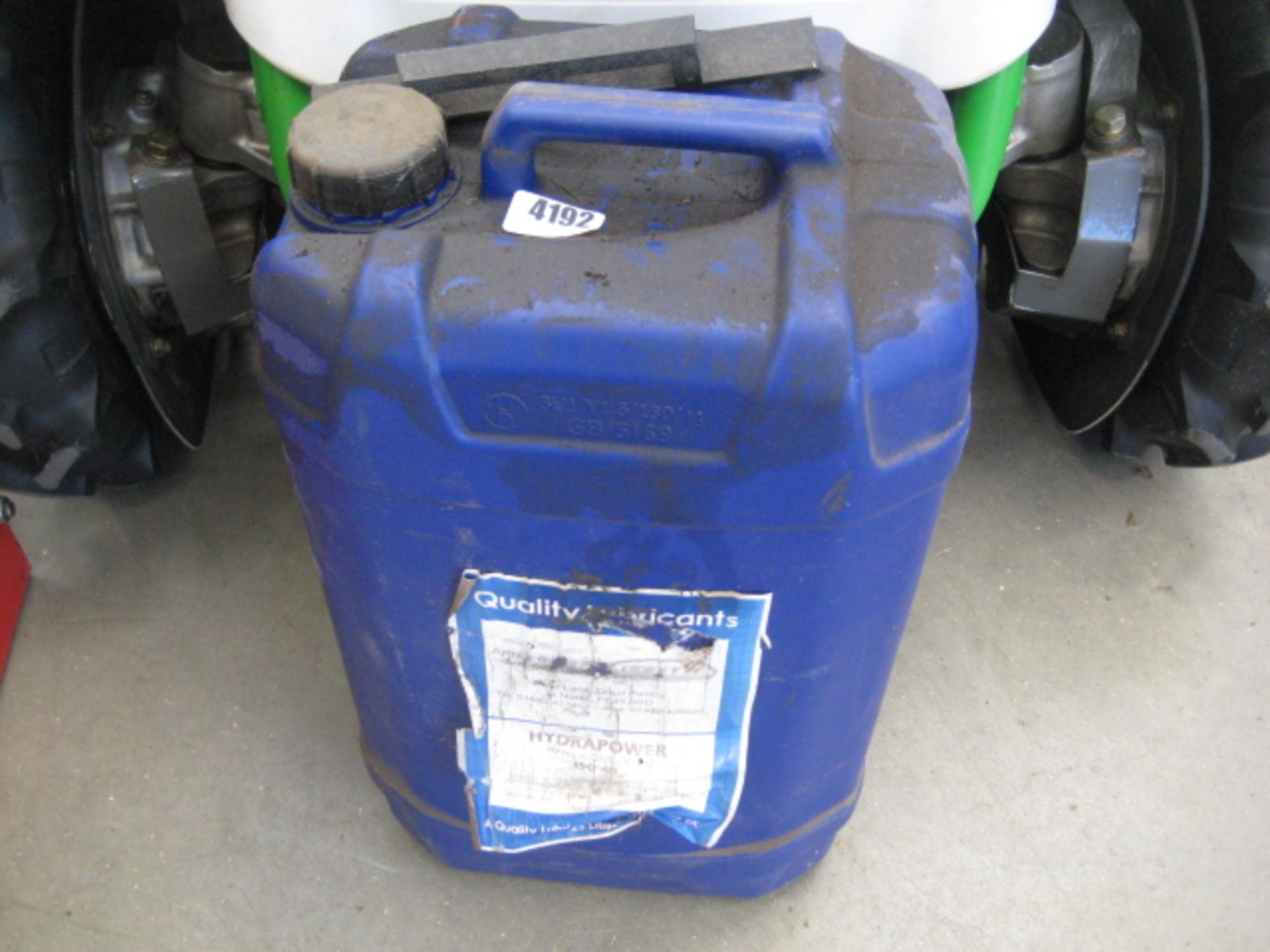 Lot 4192 - Part tub of Hydrapower hydraulic oil