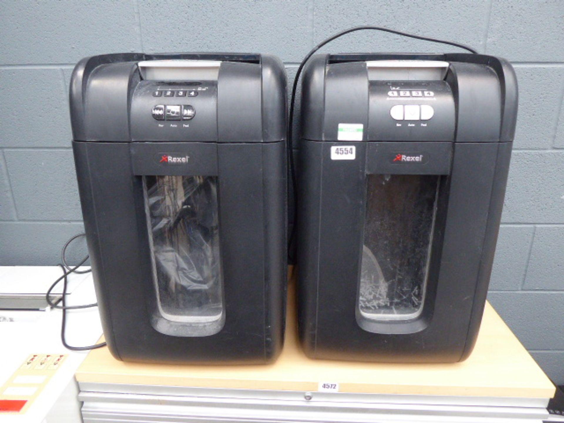 Lot 4554 - 2 large Rexel shredders
