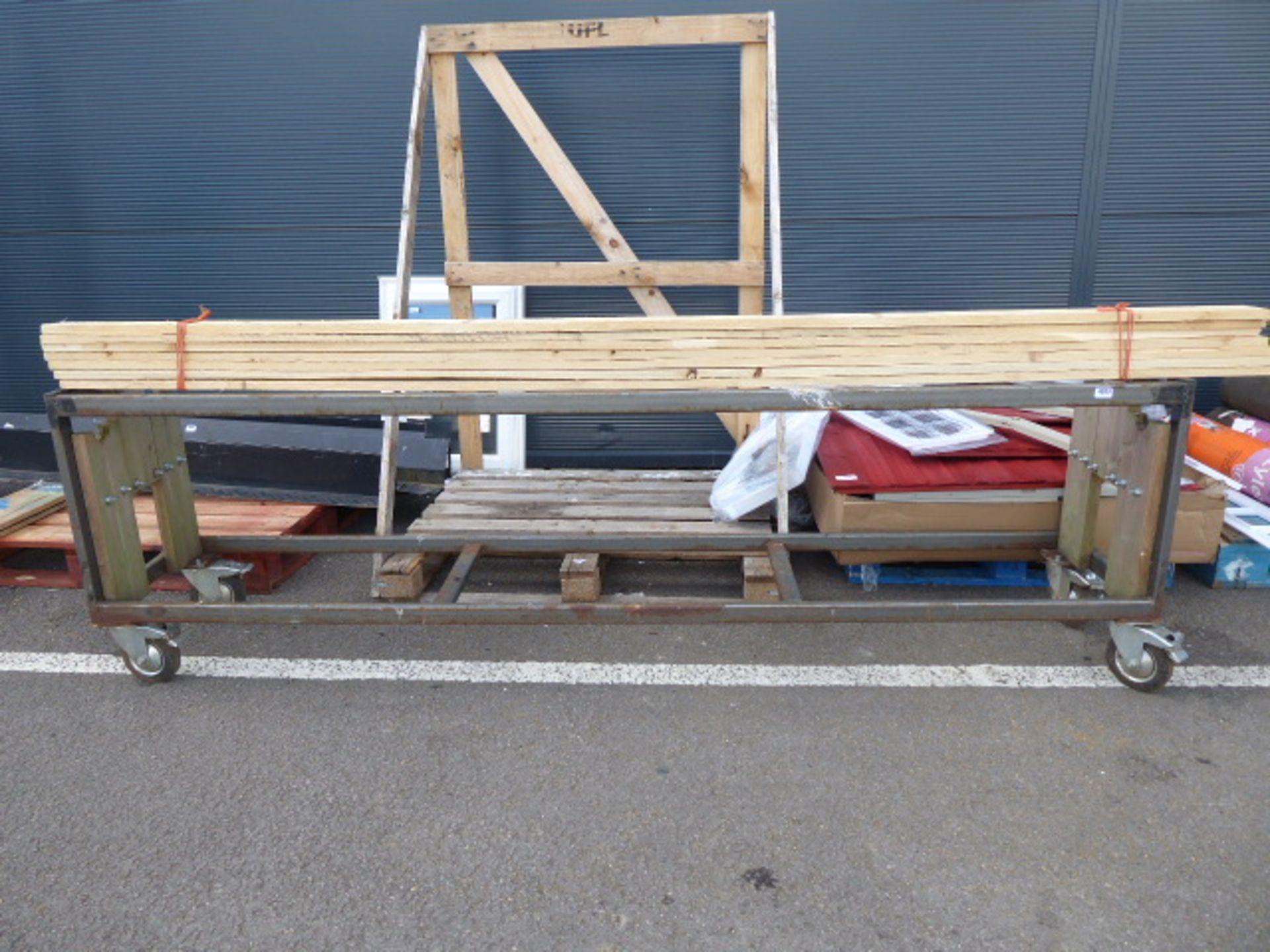 Lot 4383 - 4 wheel metal frame trolley
