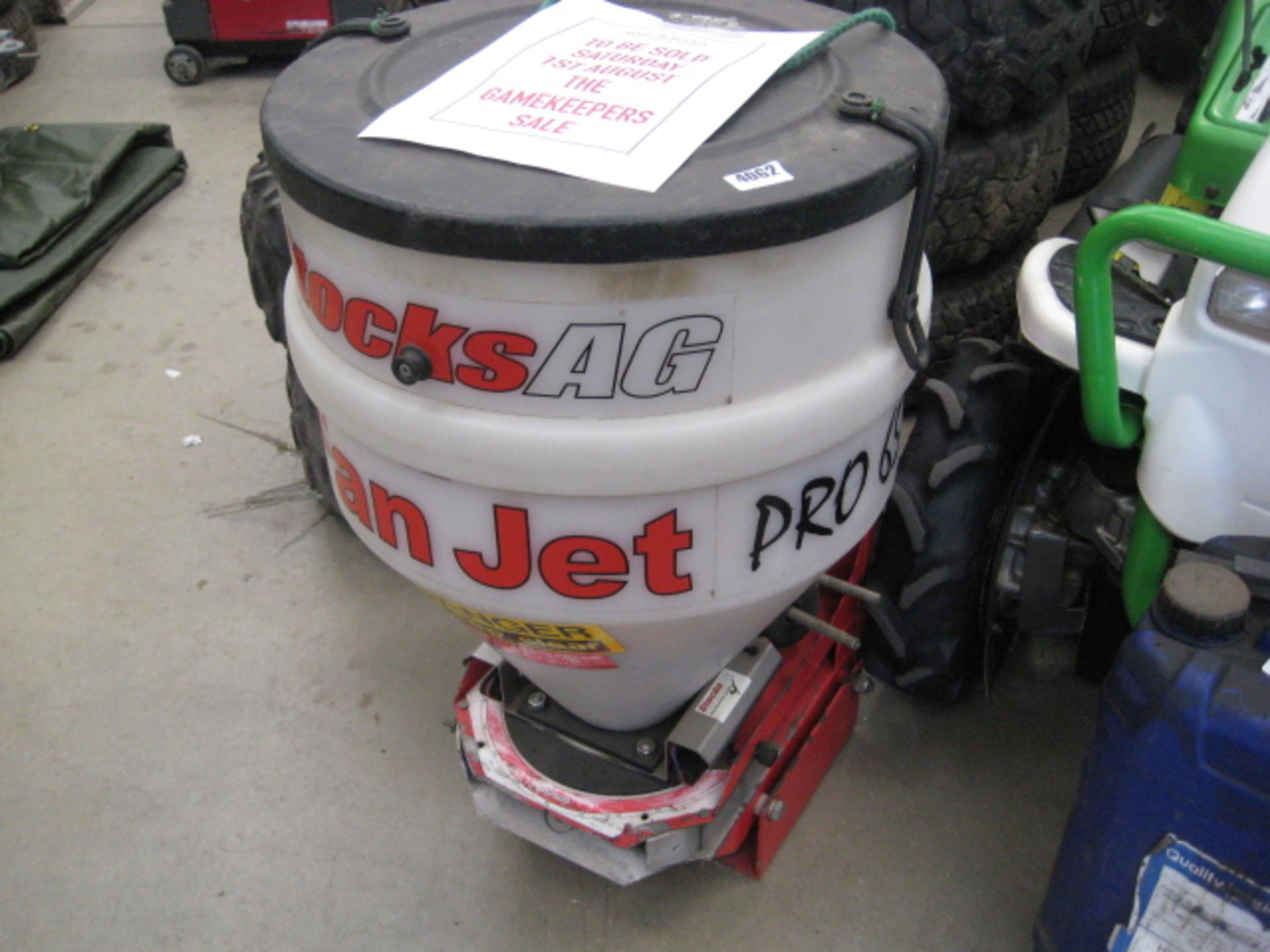 Lot 4062 - Stocks AG Fan Jet Pro 65 rotary spreader with controller