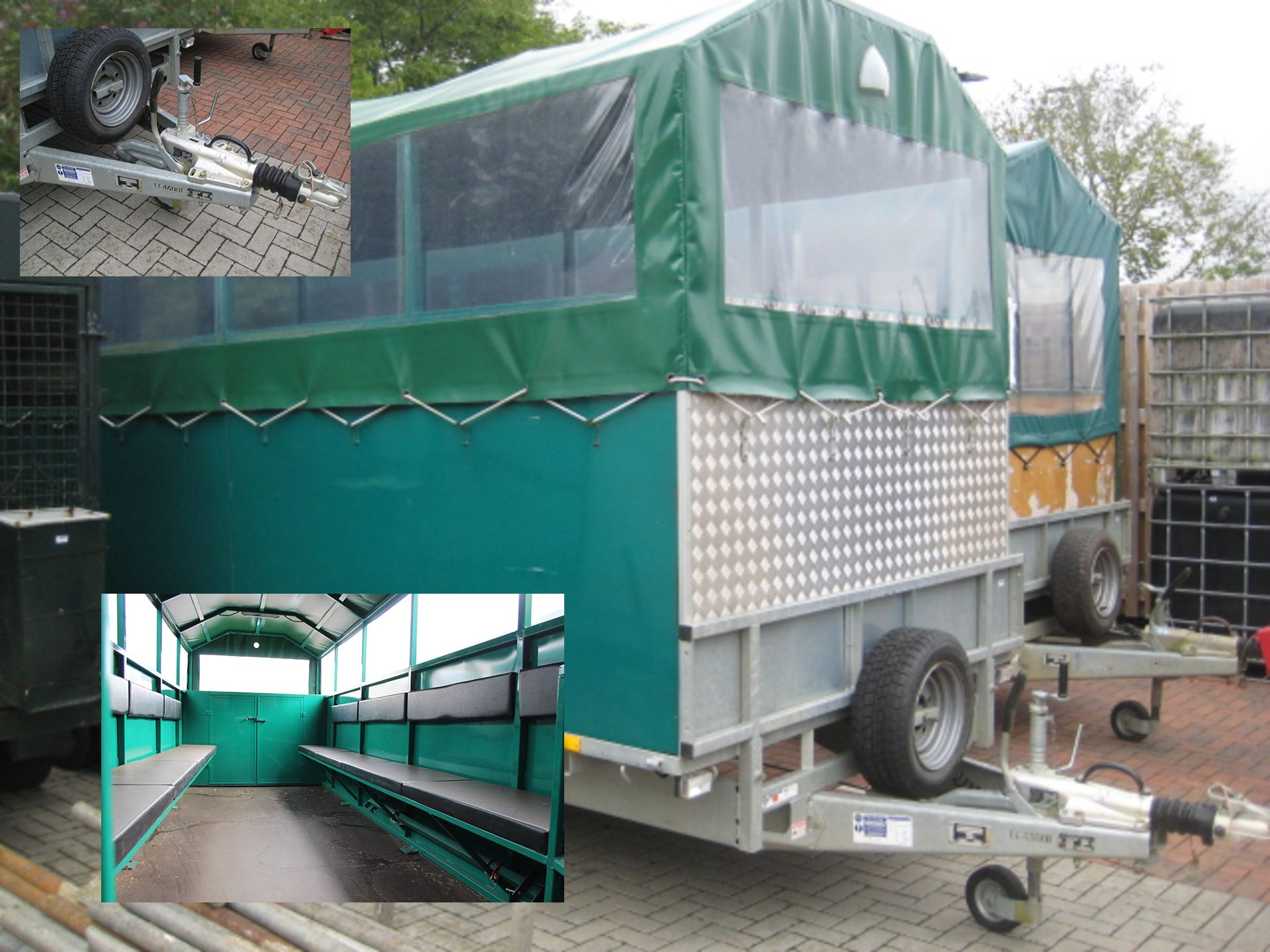 Lot 4121 - Ifor Williams LM186 tri-axle 'Gun Bus' hospitality trailer, converted by Cunningham, interior with
