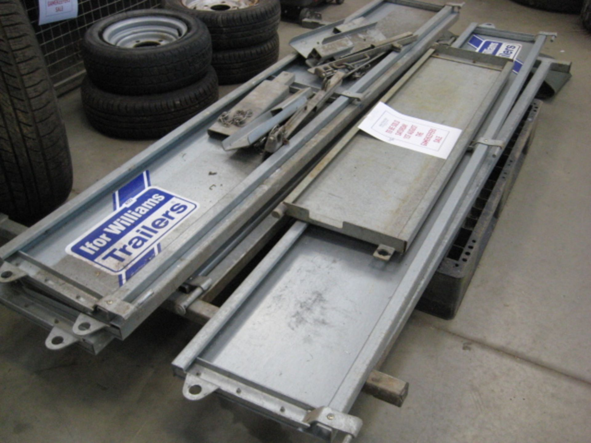Lot 4122 - Sides, support posts, tailgate and ladder rack for Ifor Williams LM186 trailer