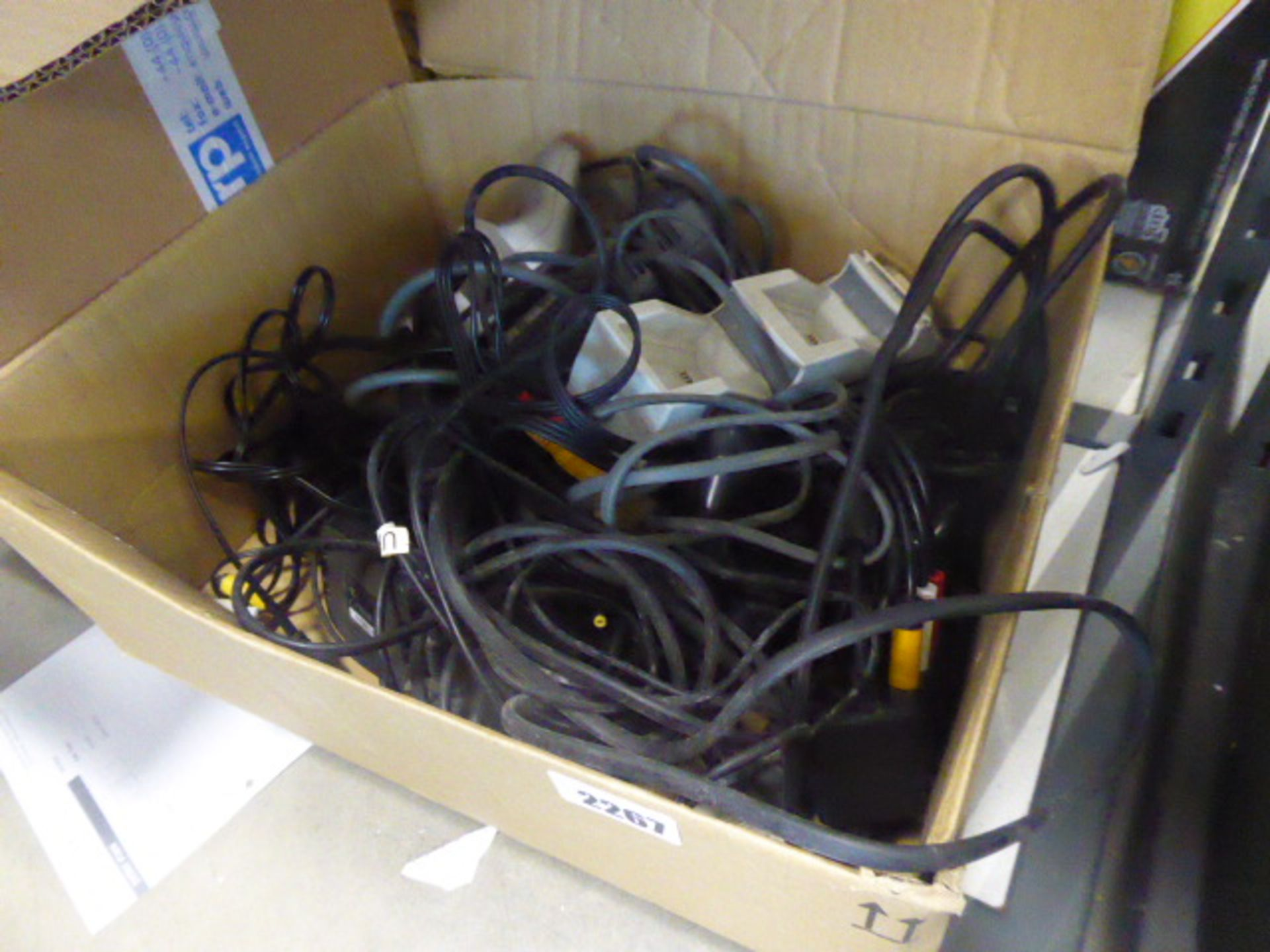 Lot 2267 - Bag containing various cabling, power supplies and controllers