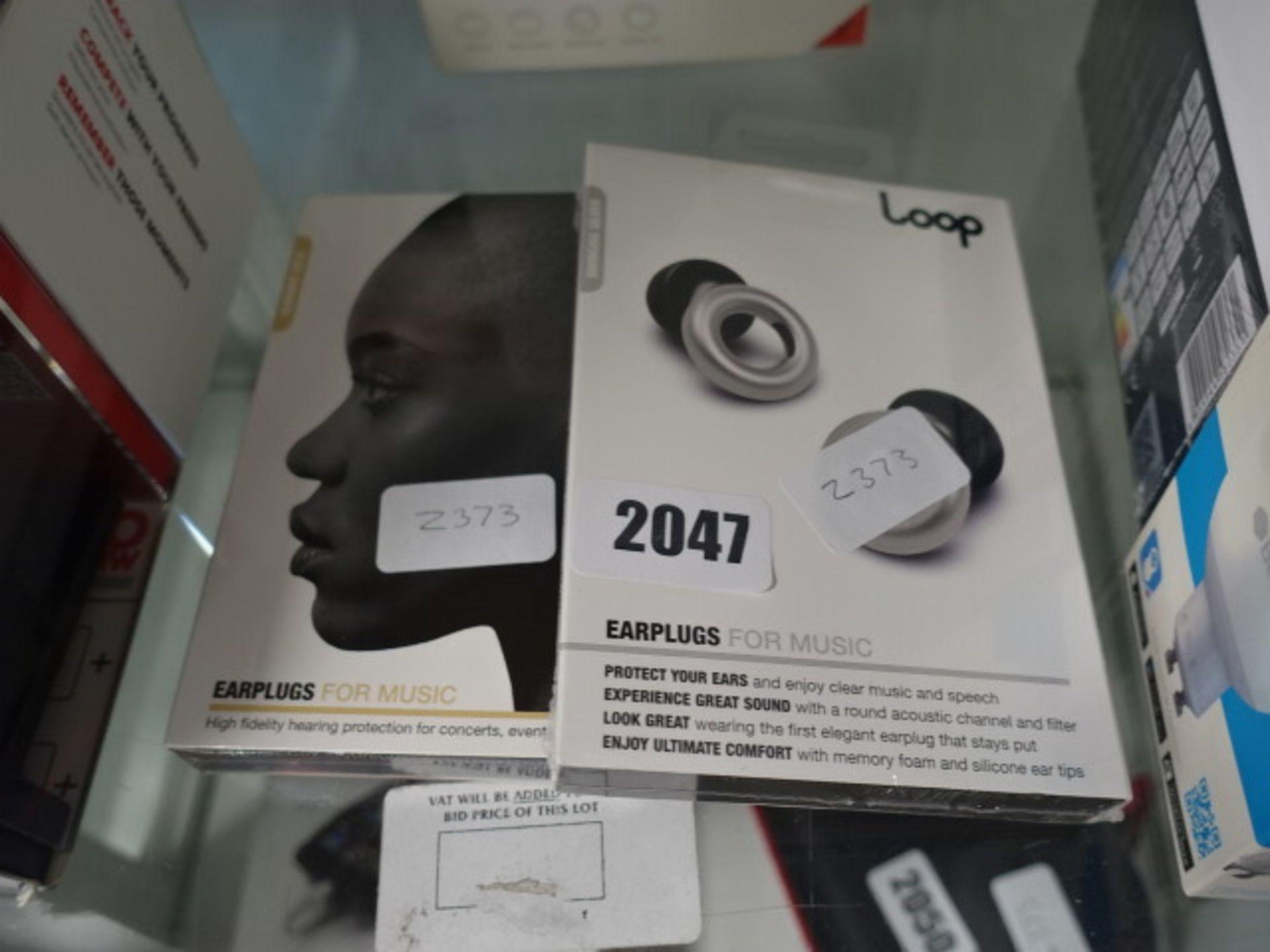 Lot 2047 - 2 packs of Loop earplugs for music in sealed packs