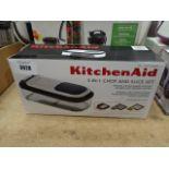 Boxed Kitchenaid 3 in 1 chop and slice set