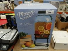 Boxed Mason Craft & More glass drinks dispenser