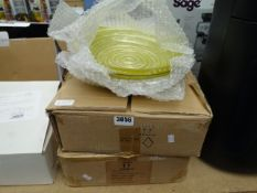 2 boxes of large glass bowls