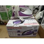 2 boxed Morphy Richards steamer irons plus another unboxed