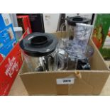 Box containing Kenwood mixer parts (mixer not included)