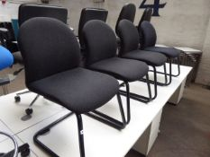 4 Charcoal cantilever chairs