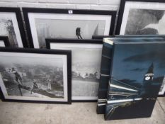 217 8 framed and glazed classic images of New York