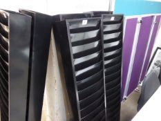 2 Durham 150cm tall black letter racks