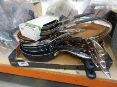 Tray of Tramontina Gotham pro pans