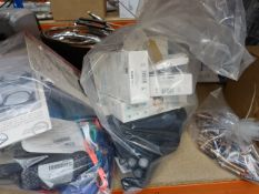 Bag containing infrared thermometers, Philips shavers etc