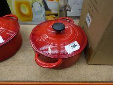 Red Tramontina casserole pot