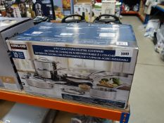 Boxed Kirkland stainless steel cookware set