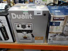 Boxed Dualit coffee machine