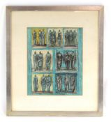 Henry Moore (1898-1986), Studies of three standing figures, signed in the image and dated 1946,