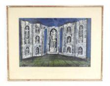 Emanuele Luzzati (1921-2007), 'Don Giovanni Act 2', signed, dated 1967 verso,