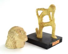 A Studio Pottery figure modelled as 'Thinking Man',