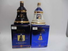 2 Bell's Celebration bells with boxes,