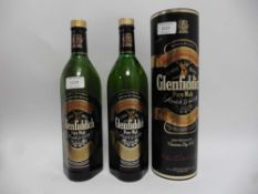 2 old bottles of Glenfiddich Pure Malt Single Malt Special Old Reserve Scotch Whisky, 1 with carton,