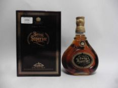 An old bottle of Johnnie Walker Swing Superior Scotch Whisky circa 1980's for Malaysian Duty Free