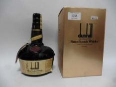 A rare old bottle of Dunhill Old Master Finest Scotch Whisky Cellar Master's No.