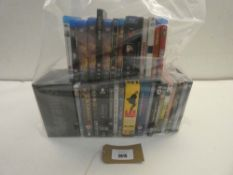 Bag containing quantity of DVD and Blu-Ray films