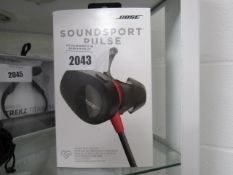 Bose Soundsport pulse pads with heart rate sensor and box