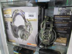 2067 5 various rig gaming headsets (4 with boxes)