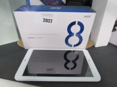 Acer Iconia One 8 marble white 16gb wifi tablet in box